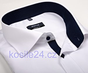 Nejprodávanější bílá košile s barevným vnitřním límcem