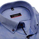 Modrá košile Eterna s krátkým rukávem