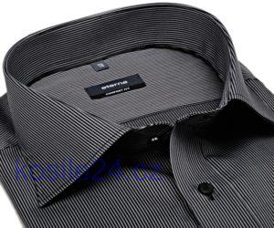 Nejprodávanější košile Eterna s černým a stříbrným proužkem